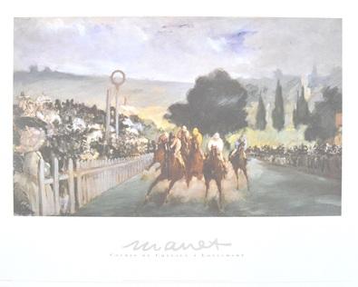 Edouard Manet Pferderennen in Longchamp