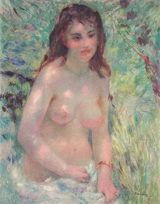 Pierre Auguste Renoir Maedchen in der Sonne   Nu au Soleil