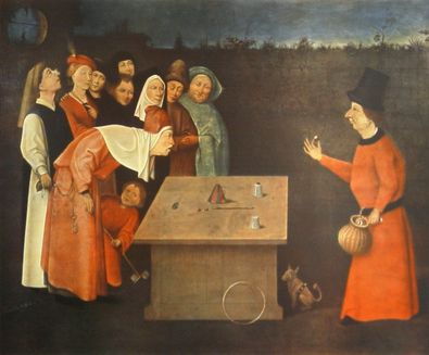 Hieronymus Bosch Der Gaukler (auch  Der Zauberkuenstler)