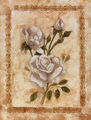 Celeste Peters 2er Set 'Flores Blancos I' + 'Rosas Blancas I'