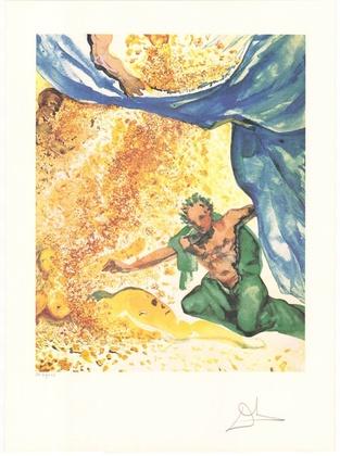 Salvador Dali Les Amourex: Adam and Eve (Garden of Eden)