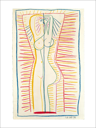 Pablo Picasso Woman standing, 1946