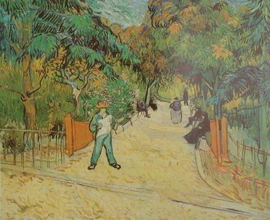 Vincent van Gogh Eingang zum Park in Arles