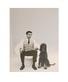 Charles Wilp Yves Klein mit Afghanenhuendin