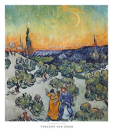 Vincent van Gogh The Promenade, Evening