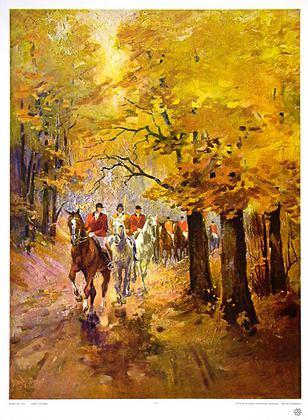 Alfred Lier Ausritt im Herbst