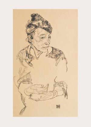Egon Schiele Nachdenkliche Frau