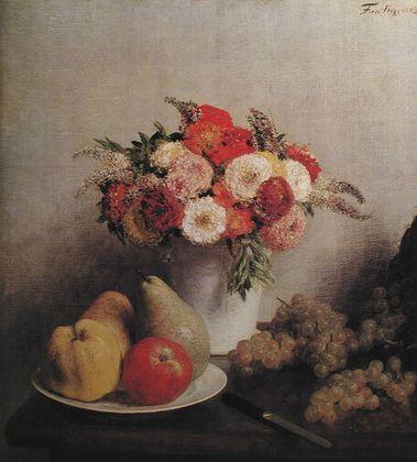Henri Fantin-Latour Stilleben mit Blumen und Fruechten