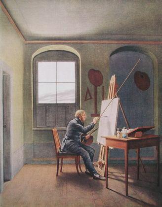 Georg Friedrich Kersting Caspar David Friedrich im Atelier