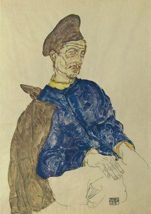 Egon Schiele Russischer Kriegsgefangener   1914