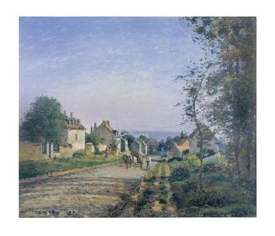 Camille Pissaro Umgebung von Louveciennes, die Strasse