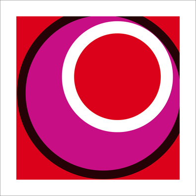 Carl Abbott Circles and Colors (Red), 2013