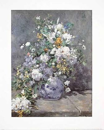 Pierre Auguste Renoir Fruehlingsstrauss