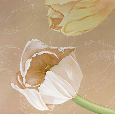 Olivia Celest Blanchard Tulips on Linen