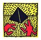 Haring keith untitled red dogs with pyramid medium