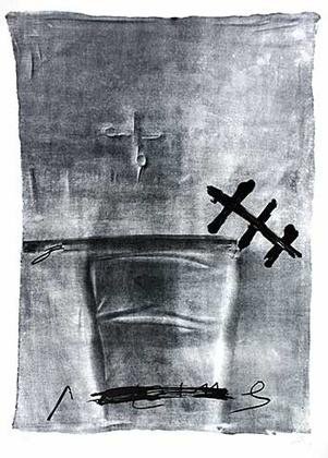 Antoni Tapies Chaise et ciseau (1984)