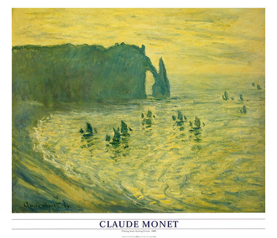 Claude Monet Fishing Boats leaving Etretat, 1886
