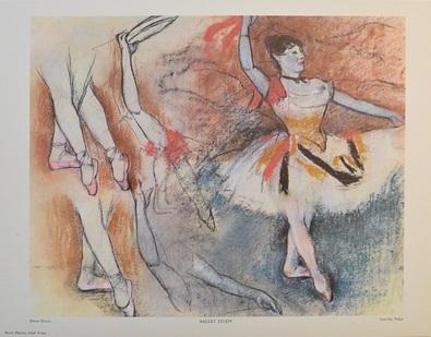Edgar Degas Ballettstudie