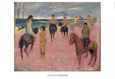 Gauguin paul cavaliers sur la plage ii large