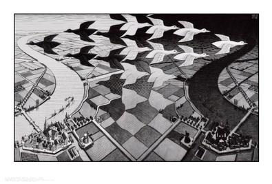MC Escher Tag und Nacht