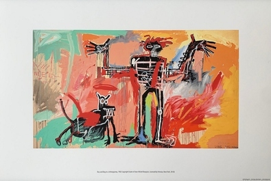 Jean-Michel Basquiat Boy and Dog in a Johnnypump, 1982