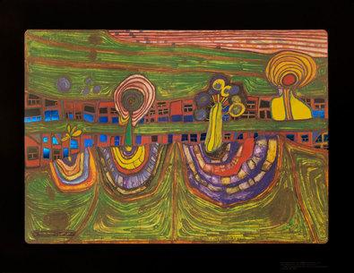 Friedensreich Hundertwasser Downtownlane 1971