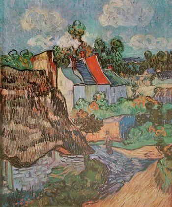 Vincent van Gogh Haeuserzeile in Auvers