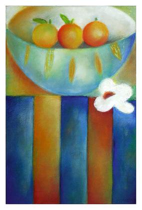 Juliane Sommer Three Oranges (37x55cm)