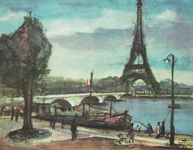 Gerhard Stengel Paris  Der Eiffelturm