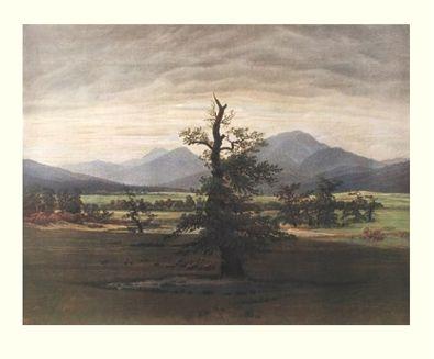 Caspar David Friedrich Der einsame Baum ( Gross )