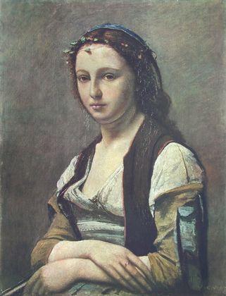 Jean Baptiste Camille Corot Das Maedchen mit der Perle