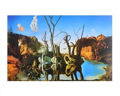 Salvador Dali Swan Reflecting Elephants