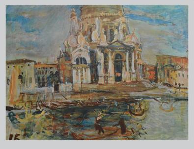 Oskar Kokoschka Venedig, Santa Maria della Salute