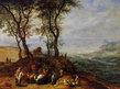 Jan Brueghel Rast auf einem Huegel (klein)