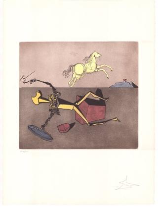 Salvador Dali Don Quijote (F) - Erwartung