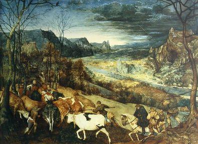 Pieter Brueghel Der Herbst (Die Heimkehr der Herde)