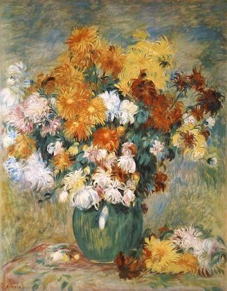 Pierre Auguste Renoir Chrysanthemenstrauss
