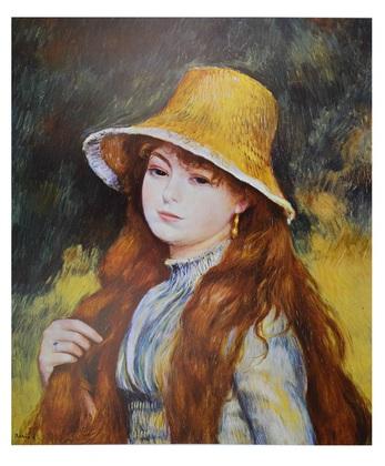Auguste Renoir Girl and golden hat