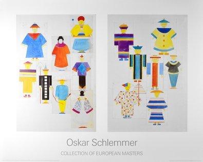 Oskar Schlemmer Die Nachtigall 8 Figuren