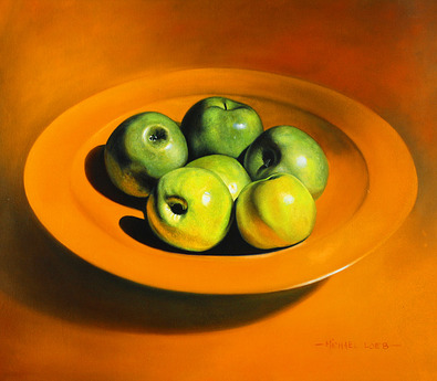 Michael Loeb 2er Set 'Still Life with Apples' + 'Still Life with Oranges'