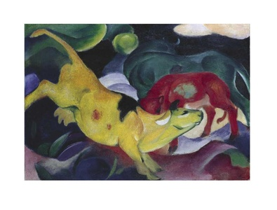 Marc franz kuehe  gelb rot gruen  1911 large