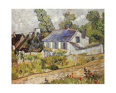 Vincent van Gogh Haeuser in Auvers, 1890