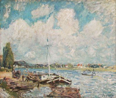 Alfred Sisley Boote auf der Seine