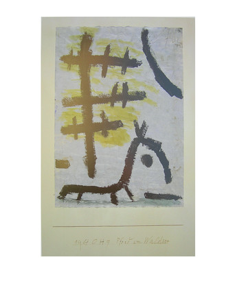 paul klee pferd am waldsee poster kunstdruck bei. Black Bedroom Furniture Sets. Home Design Ideas