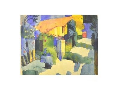 August Macke Haus im Garten