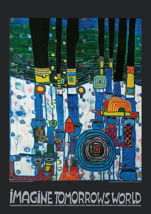 Friedensreich Hundertwasser Imagine tomorrow's world - Blue Blues
