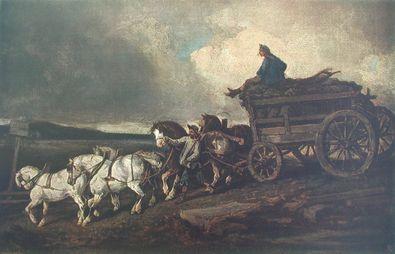 Gericault theodore der kohlenwagen large
