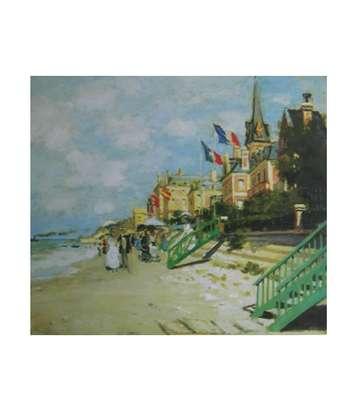 Claude Monet Der Strand von Trouville