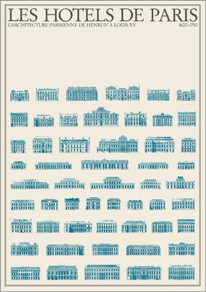 unbekannter Kuenstler Les Hotels de Paris