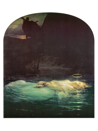 Hippolyte Paul Delaroche The Young Martyr 1855